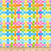 Henry Glass Easter Parade Woven Plaid Multi