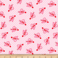 Henry Glass Love Struck Valentine Hearts XO Pink