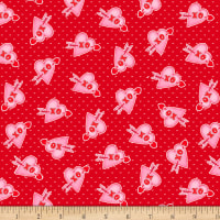 Henry Glass Love Struck Valentine Hearts XO Red