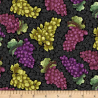 Henry Glass Wine Night Tossed Grapes Black/Multi