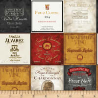 Henry Glass Wine Night Wine Labels Grey/Multi