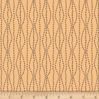 Henry Glass Flannel Bumble Garden Pebbles Peach