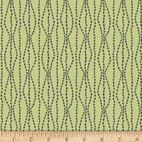 Henry Glass Flannel Bumble Garden Pebbles Green