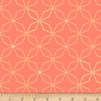 Henry Glass Flannel Bumble Garden Kaleidoscope Salmon