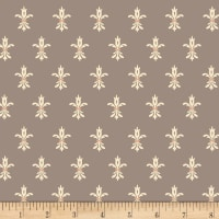 Henry Glass Flannel Bumble Garden Fleur De Lis Gray