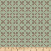 Henry Glass Flannel Bumble Garden Trumpet Flower Aqua