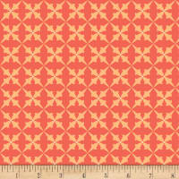 Henry Glass Flannel Bumble Garden Trumpet Flower Salmon
