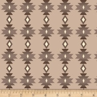 Henry Glass Flannel Bumble Garden Southwestern Stripe Gray
