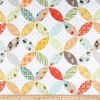 Henry Glass Flannel Bumble Garden Orange Peel Multi