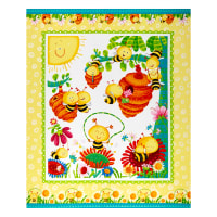 "Henry Glass Busy Bees 36"" Bee Panel Multi"