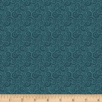 Henry Glass Moon & Back Swirl Print Teal