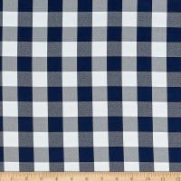 Picnic Gingham Yarn-Dyed Navy Blue/White
