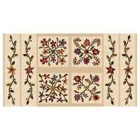 "Henry Glass Flannel Folk Art Flannels 2 24"" Folk Art Panel Cream"