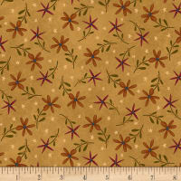 Henry Glass Flannel Folk Art Flannels 2 Daisy Toss Gold