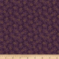 Henry Glass Flannel Folk Art Flannels 2 Small Floral Purple