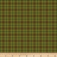 Henry Glass Flannel Folk Art Flannels 2 Printed Plaid Green