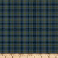 Henry Glass Flannel Folk Art Flannels 2 Printed Plaid Blue
