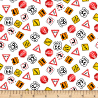 Henry Glass My Favorite Trucks Traffic Signs White