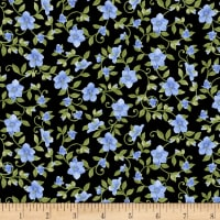 Henry Glass My Sunflower Garden Floral Vine Black/Multi