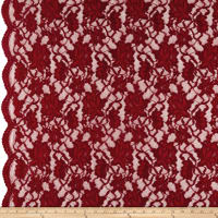Chantilly Lingerie Lace Double Border Garnet