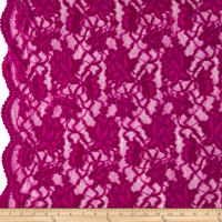 Chantilly Lingerie Lace Double Border Magenta