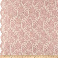Chantilly Lingerie Lace Double Border Pink