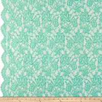 Chantilly Lingerie Lace Double Border Mint