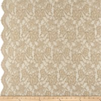 Chantilly Lingerie Lace Double Border Sand