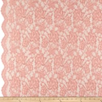 Chantilly Lingerie Lace Double Border Peach