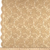 Chantilly Lace Double Boarder Dark Champagne