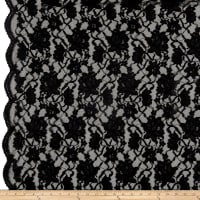 Chantilly Lingerie Lace Double Boarder Black