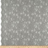 Heavy Corded Chantilly Lace Platinum