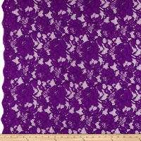 Heavy Corded Chantilly Lace Jewel Purple
