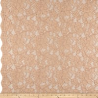 Heavy Corded Chantilly Lace Blush