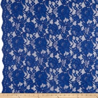 Heavy Corded Chantilly Lace Royal