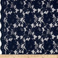 Chantilly Lace Double Boarder Dark Navy