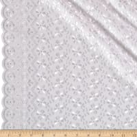 Heavy Cotton Eyelet White