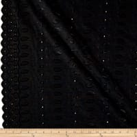 Heavy Cotton Eyelet Black