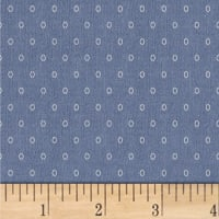 Another Point Of View Vintage Blue Oval Dot Dusk