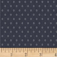 Another Point Of View Vintage Blue Oval Dot Denim