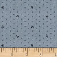 Another Point Of View Vintage Blue Flower Pot Chambray