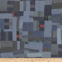 Another Point Of View Vintage Blue Patchwork Multi