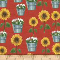 Whistler Studios Sunflower Market Sunflowers Red
