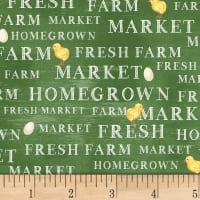 Whistler Studios Sunflower Market Market Words Green