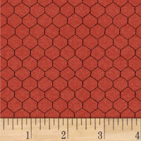 Whistler Studios Sunflower Market Chicken Wire Red