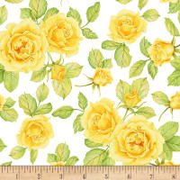 Shannon Christensen Cottage Joy Roses Yellow