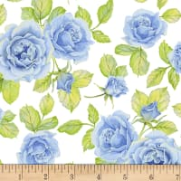 Shannon Christensen Cottage Joy Roses Blue