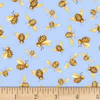 Shannon Christensen Cottage Joy Honey Bees Blue