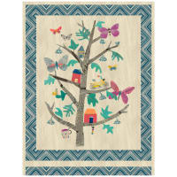 "Carrie Bloomston Wonder Tree Of Wonder 54"" Panel Multi"