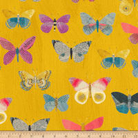 Carrie Bloomston Wonder Newspaper Butterflies Mustard